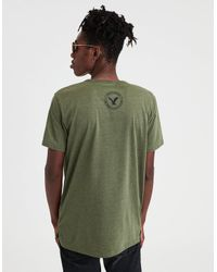 American Eagle - Green Ae Short Sleeve Graphic Tee for Men - Lyst
