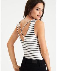 American Eagle - Multicolor Soft & Sexy Strappy Back Bodysuit - Lyst
