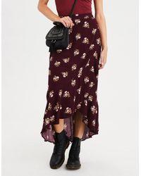 4a93685776 American Eagle. Women's Ae Ruffle Maxi Skirt