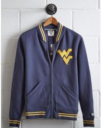 Tailgate Blue Men's Wvu Bomber Jacket for men