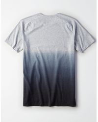 American Eagle Gray Ae Active Side Vent Flex T-shirt for men