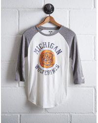 Tailgate White Women's Michigan Baseball Shirt