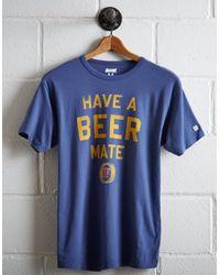 Tailgate Blue Men's Foster's T-shirt for men