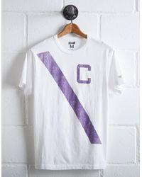 Tailgate White Men's Clemson Tigers Stripe T-shirt for men