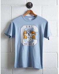 Tailgate Blue Men's Unc Tar Heels T-shirt for men