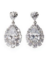 Nadri | Metallic Glam Cubic Zirconia Teardrop Earrings | Lyst