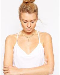 ASOS | Metallic Hex Triangle Shape Choker Necklace | Lyst