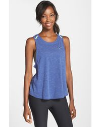 Nike - Blue Tailwind Dri-FIT Tank Top - Lyst