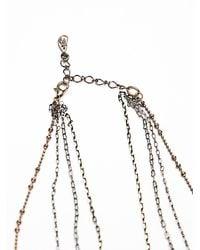 Free People Metallic Womens Waterfalls Necklace