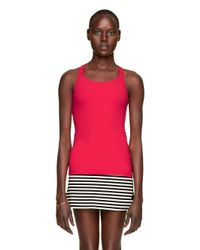 kate spade new york - Red Halter Bow Cami - Lyst