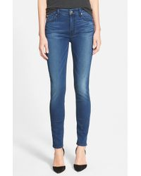 7 For All Mankind - Blue 7 For All Mankind 'slim Illusion Luxe' Ankle Skinny Jeans - Lyst