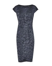 French Connection   Blue Shatter Jacquard Wrap Dress   Lyst