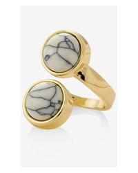 Express | White Stone Wrap Ring | Lyst