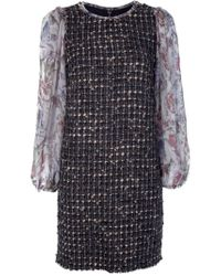 Dolce & Gabbana | Brown Tweed Dress | Lyst