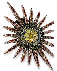Bochic - Multicolor Fancy Starburst Diamond Earrings - Lyst