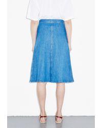 M.i.h Jeans - Blue 70S Denim Skirt - Lyst