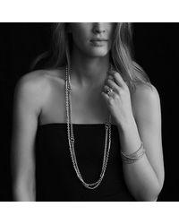 David Yurman | Metallic Metro Link Necklace With Gold | Lyst