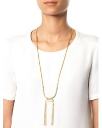 Isabel Marant - Metallic Times Square Rosequartz Necklace - Lyst
