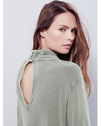 Free People - Green New Romantics Womens New Romantics Spinning Turtle Top - Lyst
