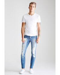 Forever 21 - Blue Medium Wash - Distressed Slim-fit Jeans for Men - Lyst