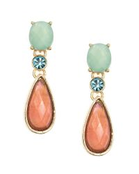 Anne Klein | Pink Coral-Drop Earrings | Lyst