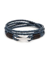 Ted Baker | Blue Treebee Plaited Leather Band Bracelet for Men | Lyst