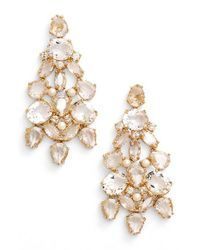 kate spade new york | Metallic 'chantilly Gems' Chandelier Earrings | Lyst