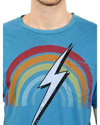 Lightning Bolt - Blue Rainbow Cotton Jersey for Men - Lyst