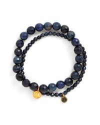 Satya Jewelry | Blue Beaded Stretch Bracelets - Dumorite (set Of 2) | Lyst