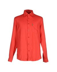 Armani Jeans - Red Shirt for Men - Lyst