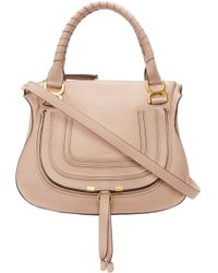 Chloé - Pink Leather Medium Marcie Bag - Lyst