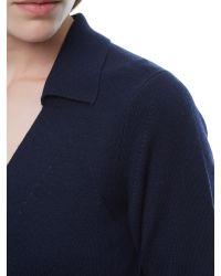 Jaeger - Purple Wool Collar Dress - Lyst