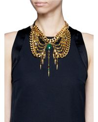 Ela Stone - Metallic Anouk Stone Multi Chain Plastron Necklace - Lyst