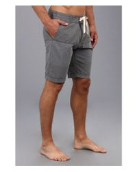 Reef - Black Captain Hybrid Short for Men - Lyst