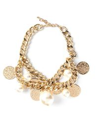 Edward Achour Paris | Metallic Coin Charm Bracelet | Lyst