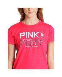 Ralph Lauren - Pink Pony Cotton Graphic Tee - Lyst