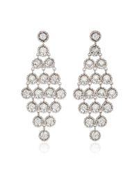 Nina Runsdorf - Metallic 18k White Gold And Diamond Earrings - Lyst