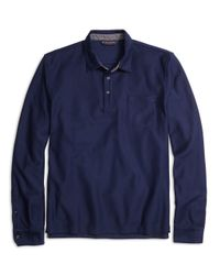 Brooks Brothers - Blue Long-sleeve Polo Shirt for Men - Lyst
