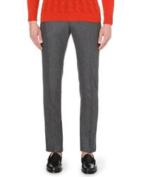 Slowear - Gray Regular-fit Wool Trousers for Men - Lyst