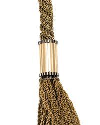 Lanvin   Metallic Tassel Detail Chain Necklace   Lyst
