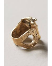 Alkemie - Metallic Riding Ring - Lyst