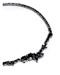 Iosselliani - Black Asymmetric Zircon Collar Necklace - Lyst