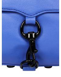 Rebecca Minkoff - Blue Mini Mac Leather Shoulder Bag - Lyst