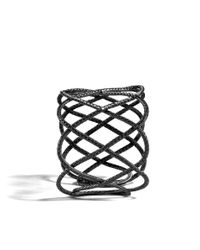 John Hardy - Metallic Classic Chain Wide Woven Braided Cuff - Lyst