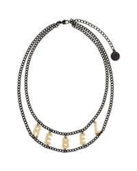 BCBGeneration | Metallic Hematitetone Rebel Necklace | Lyst
