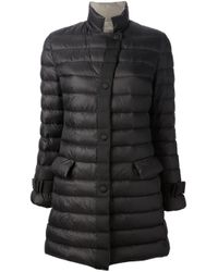 Emporio Armani | Black Padded Coat | Lyst