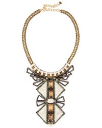 Nocturne | Metallic Tiebele Embellished Necklace | Lyst