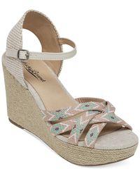 Lucky Brand | Natural Women's Mahima Friendship Bracelet Platform Wedge Sandals | Lyst
