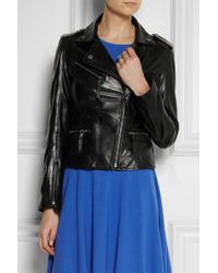 Karl Lagerfeld | Black Odina Leather Biker Jacket | Lyst
