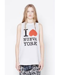3.1 Phillip Lim - White Muscle Tank - Lyst
